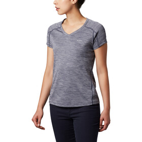 Columbia Zero Rules Camiseta Manga Corta Mujer, nocturnal heather